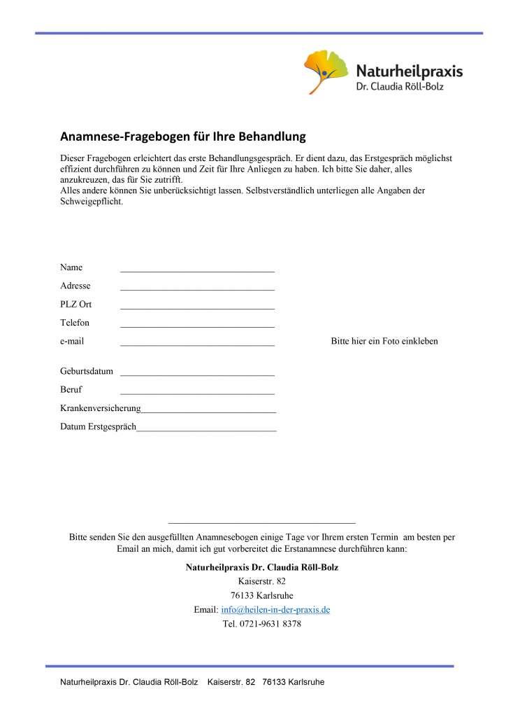 Naturheilkunde Heilpraktiker in Karlsruhe Röll-Bolz