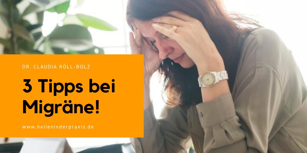 3 Tipps bei Migräne!